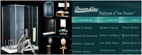 Click to browse: Dreamline shower, bath and tub doors