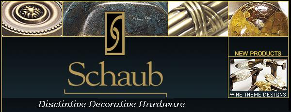 Click to browse: Schaub decorative cabinet hardware, knobs & pulls
